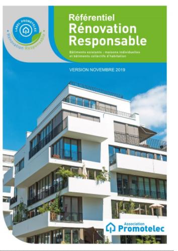 Le référentiel du Label Promotelec Rénovation Responsable 2019
